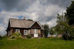 Aukstaitija National Park. Houses with garden in Aukstaitija National Park royalty free stock photos