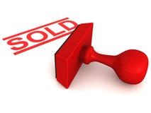 auktion såld stämpel Arkivbild