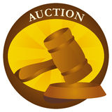 Auktionikonen Lizenzfreies Stockbild