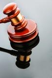 Auktionshammer reflektiert Lizenzfreies Stockbild