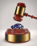 Auktionsklubba som slår VW-skalbaggen Arkivbild