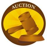 auktionsymboler Royaltyfri Bild