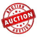 Auktionvektorstämpel Royaltyfria Bilder