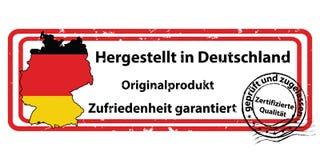 Auktoriserad revisorkvalitet - etikett för tryck med tysk text vektor illustrationer