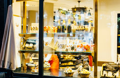 Aul Boulangerie Et Patisserie cafe with window shopping full of Stock Image
