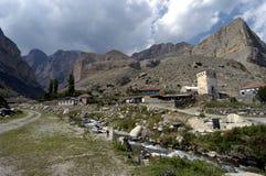 Aul de montagne en montagnes de Caucase Images stock