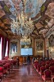 Aula ο μεγάλος Silvio Trentin Room σε Palazzo Dolfin Στοκ φωτογραφία με δικαίωμα ελεύθερης χρήσης