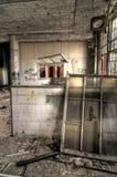 Aula abbandonata Fotografia Stock Libera da Diritti