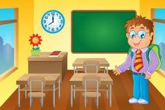 Aula con lo scolaro Immagine Stock