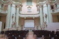 Aula de los di Belle Arti de Accademia en Bolonia Fotografía de archivo