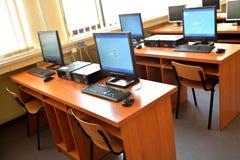Aula del computer per lo studio Immagini Stock Libere da Diritti