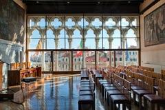 Aula histórico Baratto en universidad del Ca Foscari Fotografía de archivo