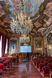 Aula Magna Silvio Trentin Room in Palazzo Dolfin royalty-vrije stock foto
