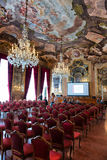 Aula Magna Silvio Trentin Room in Palazzo Dolfin Stock Image