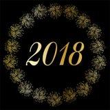 Auld Lang Syne 2018 w srebnej złocistej confetti ramie Obraz Stock
