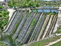 Aulencia water dam. Old water dam of Aulencia. It is located near the town of Valdemorillo Royalty Free Stock Photos