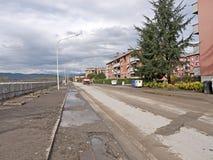 Aulla que olha desolado após as inundações outubro 2011 Imagens de Stock Royalty Free