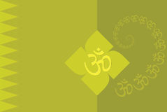 Aum Abstract Background. Aum (0m) holy sign Abstract Background Stock Illustration