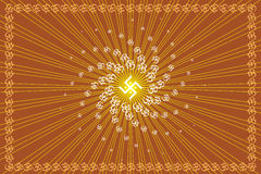 Aum Abstract Background. Aum (0m) holy sign Abstract Background Royalty Free Illustration