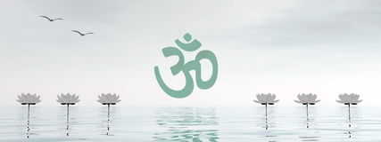 Aum del zen - 3D rinden Fotos de archivo libres de regalías
