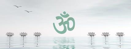 Aum do zen - 3D rendem Fotos de Stock Royalty Free