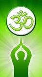 Aum Gebet-Grün Lizenzfreies Stockbild