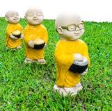 Aumône de moines de stuc Image libre de droits