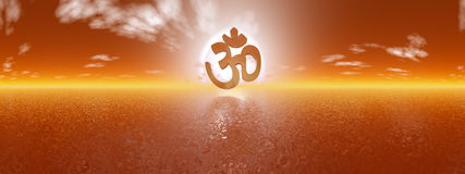 Aum symbol - 3D render Royalty Free Stock Image