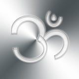 Aum symbol. Aum Hindu symbol on grey background Royalty Free Stock Image