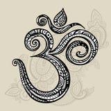 Aum, symbole de l'OM Photos stock