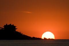 Aumentação de Sun Fotografia de Stock