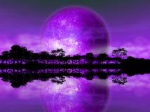 Aumentando della luna Immagini Stock Libere da Diritti
