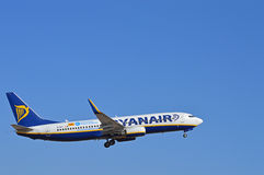Aumentando a estrutura - Ryanair fotos de stock
