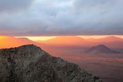 Aumentando in montagne Fotografie Stock Libere da Diritti