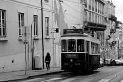 Aumentando una collina a Lisbona Fotografia Stock Libera da Diritti