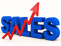 Aumentação das vendas Fotografia de Stock Royalty Free