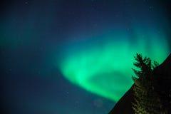 Aumentare degli indicatori luminosi nordici Fotografia Stock Libera da Diritti