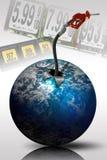 Aumentare di prezzi di gas Fotografia Stock Libera da Diritti