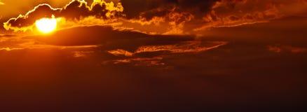 Aumentare di Sun Fotografia Stock Libera da Diritti