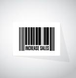 aumente el concepto de la muestra del código de barras de las ventas Imágenes de archivo libres de regalías
