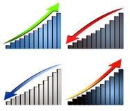 Aumente gráficos da diminuição Fotos de Stock