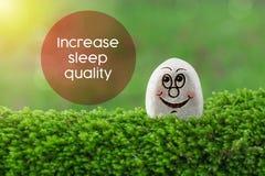 Aumente la calidad del sueño imagenes de archivo