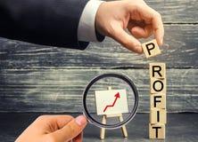 Aumente los beneficios y el fondo de inversión Concepto de éxito empresarial, de crecimiento financiero y de riqueza Aumento sala foto de archivo
