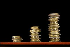 Aumente no lucro (taxas). Imagens de Stock