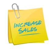 aumente o conceito do sinal do cargo do memorando das vendas Fotografia de Stock Royalty Free
