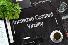 Aumente o conceito satisfeito de Virality 3d rendem Imagem de Stock Royalty Free