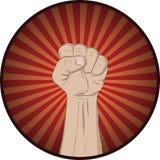 Aumente su puño y grito Fotografía de archivo libre de regalías