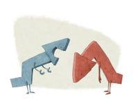 Aumenti e faccia diminuire le frecce Immagine Stock Libera da Diritti