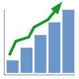 Aumenti il grafico Immagini Stock