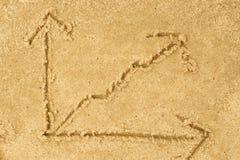 Aumenti il grafico che assorbe la sabbia Fotografie Stock